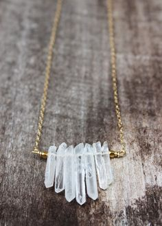 Hey, I found this really awesome Etsy listing at https://www.etsy.com/listing/196711475/crystal-quartz-bar-necklace-gold-filled