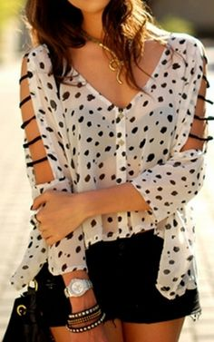 dots, great and unique top!