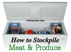 Stockpiling is a great way to save money on your grocery bills, but there are some items that are more difficult to stockpile then others – like meat and produce – but rest assured, it is possible to stockpile these items without paying an arm and a leg!