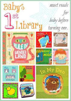 Baby's First Library - must have baby books.  One for each month of baby's 1st year.