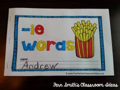 Printable Phonics Mini-Books for the -ie Family #TPT $Paid
