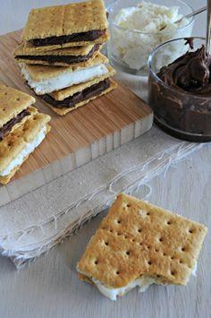 Chocolate Frosting Graham Cracker Cookies
