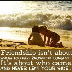 True friendship.....