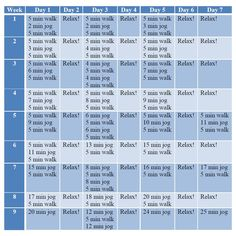 Training Schedule fitness
