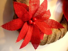 love the burlap poinsettia