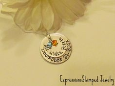 Mr & Mrs Necklaces-anniversary gift, hand stamped jewelry, sterling silver chains, newlyweds, gift for parents, wedding gift, wedding couple, fiance, daughter in law, 25th anniversary, 50th anniversary gift, couple