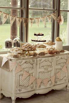 Dessert Display on Buffet Table