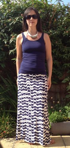 Easy maxi skirt tuturial from Big Boo Little Boo