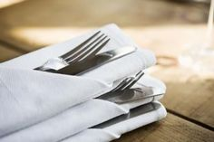 How to fold silverware into a napkin tutorial