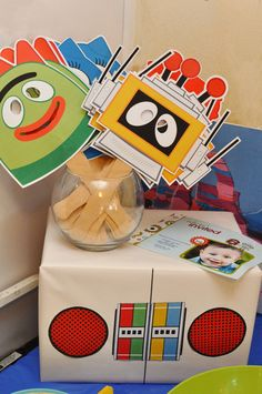 Yo Gabba Gabba party ideas!! (masks)