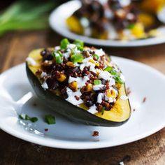 dinner, mexican corn, quinoa stuf, corn quinoa, food, stuf squash, mexican roast, recip, acorn squash