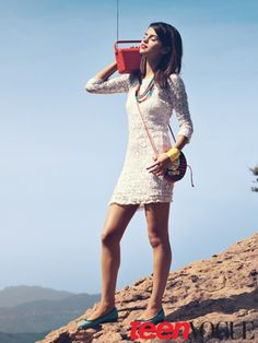 Selena Gomez in Teen Vouge--I LOVE her dress.and beads