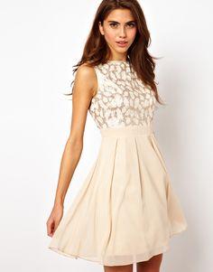 foil lace dress / asos