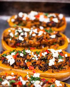 ChipotleTurkey and Wild Rice Stuffed Squash #squash #turkey #fall #healthy #lean