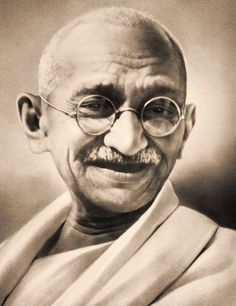 Mohandas Karamchand Gandhi   (10/2/1869 – 1/30/1948) was a major spiritual and political leader of India and the Indian independence movement. He was the pioneer of satyagraha-resistance to tyranny through mass civil disobedience, firmly founded upon total non-violence which led India to independence and inspired movements for civil rights and freedom across the world. He is  known as Mahatma Gandhi . His birthday is commemorated worldwide as the International Day of Non-Violence.