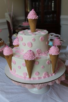 Cute cake for a little girl's birthday party!