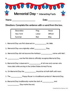 memorial day quiz questions