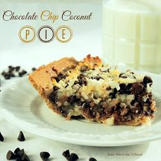 Chocolate Chip Coconut Pie