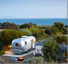 airstream by the sea