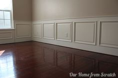 DIY wainscoting for