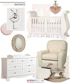 We designed an entire nursery around the @Suzan Hamilton Decor Chelsea Sleigh Crib! #designboard #nursery #traditional