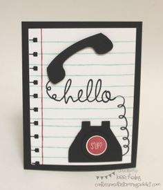 Confessions of a Stamping Addict Telephone Hi There Stampin' Up Lorri Heiling