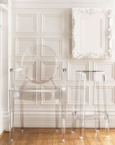 I would put these all over my house just to watch people run into them. Muhahaha    Phillipe Starck's Louis ghost chair.