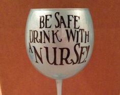 Personalized Nurse Wine Glass