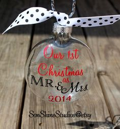 First Christmas as Mr and Mrs Ornament by sonshinestudios on Etsy, $13.00