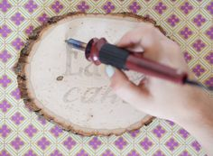 how to burn words into wood