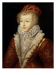 Margaret of Valois (French: Marguerite de France, Marguerite de Valois, 14 May 1553 – 27 March 1615) was Queen of France and of Navarre during the late sixteenth century. Royal Princess of France by birth, she ultimately became the only surviving member of the Royal Valois dynasty.  She was the daughter of King Henry II of France and Catherine de' Medici and the sister of Kings Francis II, Charles IX and Henry III and of Queen Elizabeth of Spain. She was queen twice for she had married King He...