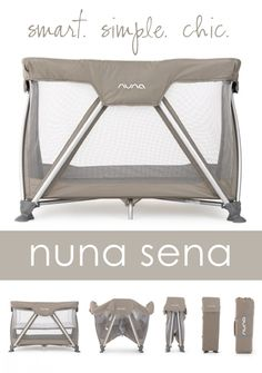 Nuna SENA Travel Cot {Giveaway} | | The Shopping MamaThe Shopping Mama.  Love how bassinet stays in place when closing!