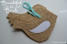 Happy House of 5: Beautiful Burlap Bird Tutorial- Both Sew or No-Sew