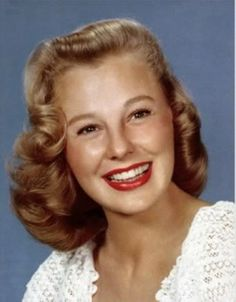 Actress/Singer/Dancer- June Allyson- 1918-2007   She started her film career at MGM appearing in musical films such as Best Foot Forward and Good News.  She later went into more dramatic roles