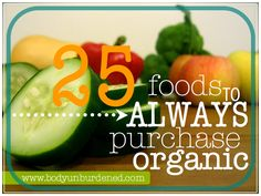 25 foods to always buy organic. Health, diet, and nutrition.