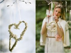 Hanging Heart Shaped Baby Breath