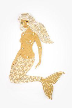 Paper Doll Mermaid