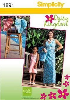 Simplicity 1891 Child's and misses' dress and hat with bag Size: A (2-6/8-18) Availability: OOP Condition: Uncut, Factory Folded Swapper: Konnie Kapow Will swap for: patterns, fabric,trims/ notions, buttons, books and more...