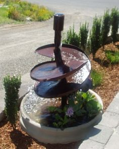 old auger water feature
