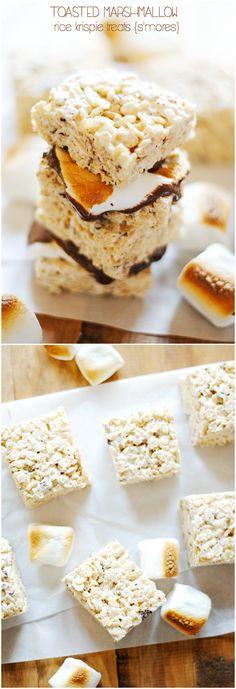 Toasted Marshmallow Rice Krispie Treats | www.somethingswanky.com