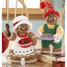 Gingerbread Delight Crochet Dolls.