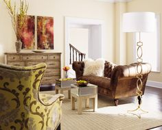 Love the classic creme with splashes of color.