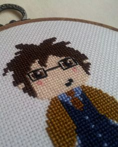 10th Doctor cross stitch ~ Doctor Who Swap (R7) on Craftster made for Summer6061