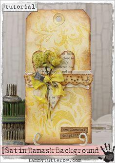 Tammy Tutterow Tutorial | Satin Damask Background tags, tutorials, heart, tutterow tutori, backgrounds, damask background, design, satin damask, tammi tutterow