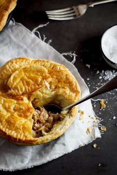 Chicken, bacon and corn pot pies