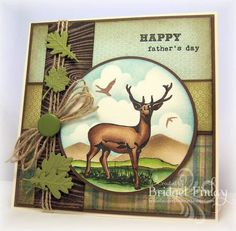 Deer Card (Very nice masculine card) masculin card, father day, greeting cards, deer card, scrapbooking fathers day card, scrapbook cards father's day, paper crafts, fathers day cards, man card