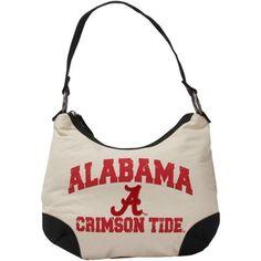 Alabama Crimson Tide Ladies Gameplan Hobo Purse - White/Black