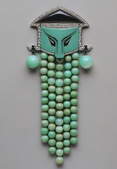 This green is soooo soothing - and the silhouette fun - spa brooch!