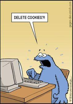 Delete Cookies Cookie Monster image cartoon #100likes #bestoftheday #cool #loveit