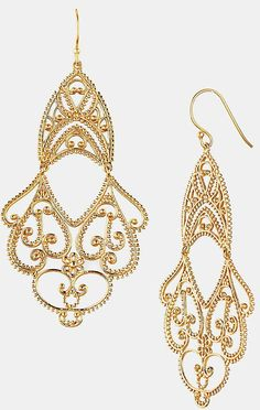 Whether it's in Tuscany or Napa, a vineyard wedding calls for baubles in rich colors, like this Argento Vivo Double Drop Earrings ($138) with vintage Romanesque undertones that will complement the otherworldly feeling of your surroundings.